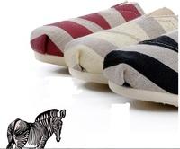 summer zebra  skin  shoes   Magic size   free shipping  by DHL
