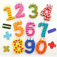 (2packs/lot)Free shipping baby educational toys 15pcs/pack wooden fridge magnet sticker refrigerator stickers hotsale