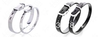 New arrived Can be engraved with adjustable buckle couple of stainless steel bracelet - Korean version