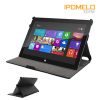 Black Leather Cover Case Protector For surface windows RT 10.6  2 angles Free air mail ED765