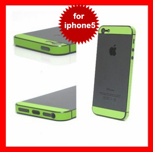 Colorful Leather Effect Bumper Home Button Sticker Decor Fit For iPhone 5 5G, For iPhone 5 Bumper Leather Sticker