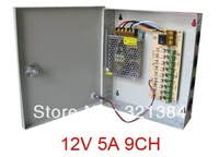 12V 5A 9CH Port Power Supply Box for CCTV Camera