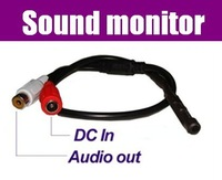 Free Shipping 10pcs/lot Security Mic Microphone Sound Monitor voice audio pick up device