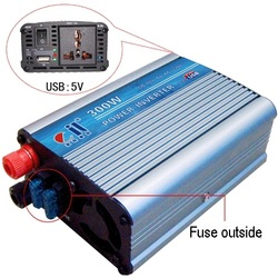 Free Shipping! Car Power Inverter 300W DC 12V to AC 110V -USB-Outer Fuse(China (Mainland))