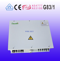 PV combiner box for 10 way input