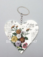 2013 hot sale fashion promotional custom heart shape keychain with free shipping