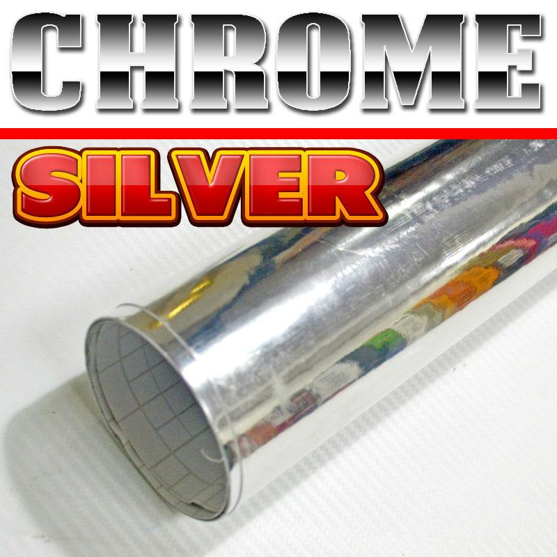 Bright  silver  mirror chrome  vinyl  sheet roll decal for car  /original firber design / Size: 98 x 4.9 Feet(China (Mainland))