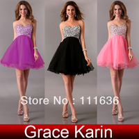 Free shipping fashion GK New Stunning Strapless Prom Gown Party Dresses Formal Evening Dress 2014  8 Size CL4105