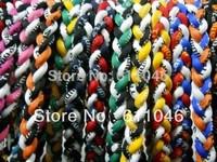 wholesales titanium 3 ropes necklaces titanium magnetic balance sport custom necklace 16/18/20/22 inch 200pcs/lot free shipping