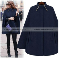 Shanghaimagicbox Women Fashion Vintage Casual Cape Cloak Coat  Outwear 2 Colors New WCOT159