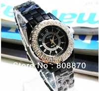 Free Shipping Double Rhinestone Women Watch Dress Woman Fashion Quartz Wristwatches Jelly watch Dropship