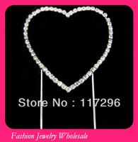 Crystal Heart Rhinestone Cake Topper 50pcs/lot