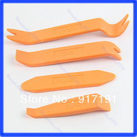 Free Shipping 1set/4pcs Portable Practical Car Door Plastic Trim Panel Plastic Trim Removal Tool Set Kit