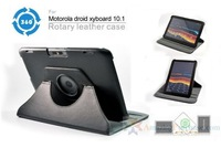 new 360 Degree Rotating Leather Case Cover for XOOM 2 MOTOROLA DROID XYBOARD 10.1 Tab Free shipping