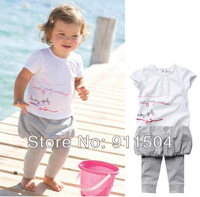 Free Shipping NEW STYLE Girl's Summer Suit false 3pcs Baby Suit for kids Baby Set Children wear