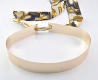 Free Shipping Designer Belts Women Fashion 2014 Embellished Metal Keeper Metallic Bling Gold Mirror Wide Obi Belt Corset,(M 55)