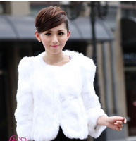 Genuine Rex Rabbit Fur  coats With Collar,short style winter coat Women Coat,Retail/Wholesale/lady clothes  free shipping by EMS