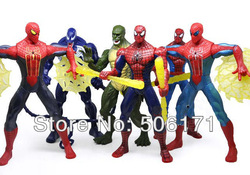 "The Amazing Spider Man 7"" Action Figures Toy Set of 6 New Characters Spiderman PVC Figure Doll(China (Mainland))"