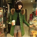 Free shipping new arrival women woolen long overcoat high quality fashion lady outerwear white red green orange M,L,XL,XXL