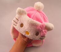 2013 winter hello kitty warm fur hat Bomber Hats,children baby cartoon Ear hat,wholesale