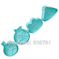 cake Decorating tools,Fondant Cake Cookie  Mold , birds Plunger Cutter DIY,1 set Random Color.