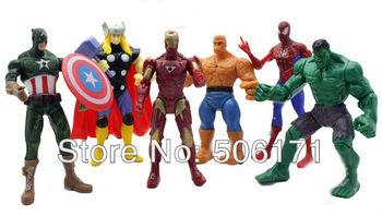 The Avengers 6pcs/set Iron man Hulk Thor Captain America Black widow Figure super hero Marvel superhero