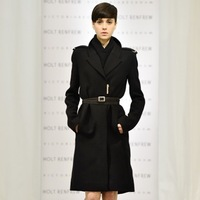 2013 autumn and winter the same section of the New Victoria Beckhams star Slim wool woolen coat woolen coat Women