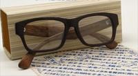 Freeshiping Wholesale NEW oculos full frame handmade wooden glasses 7251D Hot selling vintage designer Optical nerd  Eyeglasses