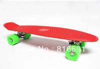 "free shipping Wholesale MINI LONG SKATE BOARDS RED 22"" PLASTIC COMPLETE PENNY SKATEBOARD  longboards"