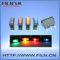 on-off rocker switch illuminated colorful 15a 250v