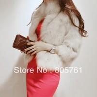 New fashion women's faux fur coat women's luxury outerwear overcoat size:S,M,L
