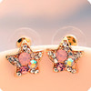 Min 12 pcs/lot mix available,Glamorous shining star  earrings,354.6458.FreE ShiPPinG