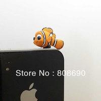 Cute Big Eyes Clownfish Anti Dust Plug -3.5mm Phone Dust Stopper Earphone Cap Headphone Jack Charm for iPhone 4 4S 5 HTC Samsung