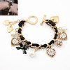 (Min.order is $10,mix order) Fashion Cloth Bracelet Charming Crystal Pendant  Bracelet Jewelry For Women Free Shipping