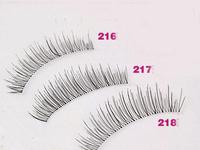 Free shipping 10 pairs/box, High quality handmade natural nude makeup cross transparent false eyelashes 216