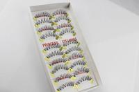 Free shipping 10 pairs/box eyelashes natural dishevelling cross transparent handmade false eyelashes #13