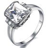 women's Jewelry ring  stainless steel ring  Wholeseale Free Shipping big crystal inlaid Size 5/6/7/8/9 3252