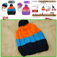 free shipping In 2013, the new three color children baby hat can be lovely hat knitting hat