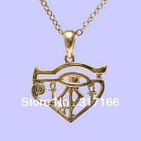 free shipping gold plating eye of horus pendant necklace