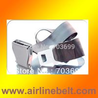 Dark Gray fashion belt with aluminum/metal airplane buckle