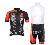 Free shipping!2012 New focus Cycling Jersey and bib shorts suit /short sleeve cycle wear/bicycle jersey,with 3D COOLMAX