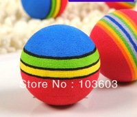 2013 new Super Q rainbow ball, cat toys, pet EVA toys, dog balls Toy, Diameter of 3.5cm 20pcs/lot+ Free Shipping