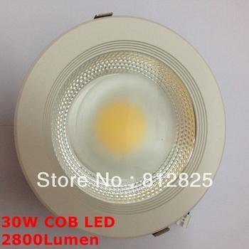 DHL/Fedex Free + 10PCs down Light TH33 Brand quality assurance 30W COB LED Downlights LED 85-265V for indoor lighting bedroom