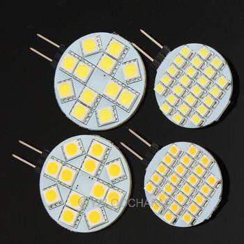 New 4pcs G4 2.2W 190-Lumen 6500K 12SMD 5050 LED Light Pure/Warm White Bulb Lamp DC 12V 80162/80163
