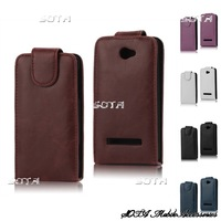 Glossy Leather Vertical Flip Case for HTC Windows Phone 8S Free Shipping