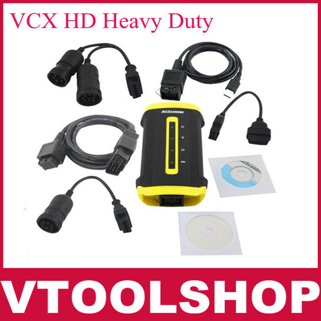 2013 Newest version Free Shipping Allscanner VCX HD Heavy Duty Truck Diagnostic System for CAT, VOLVO, HINO, Cummins, Nissan(China (Mainland))