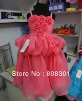 Платье для девочек Popular in the West, children in bright purple dress - sold worldwide design
