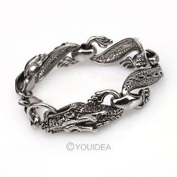 Wholesale - 4pcs Vintage Punk Black Dragon Design Animal Hinged Bracelet Bangle Men Lady Gothic Cuff 261599