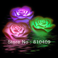 freeshipping 10pcs waterproof led rose,led light can changing the color