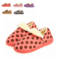 Dot lovers cotton-padded slippers male women's handbag cotton-padded shoes wool slippers